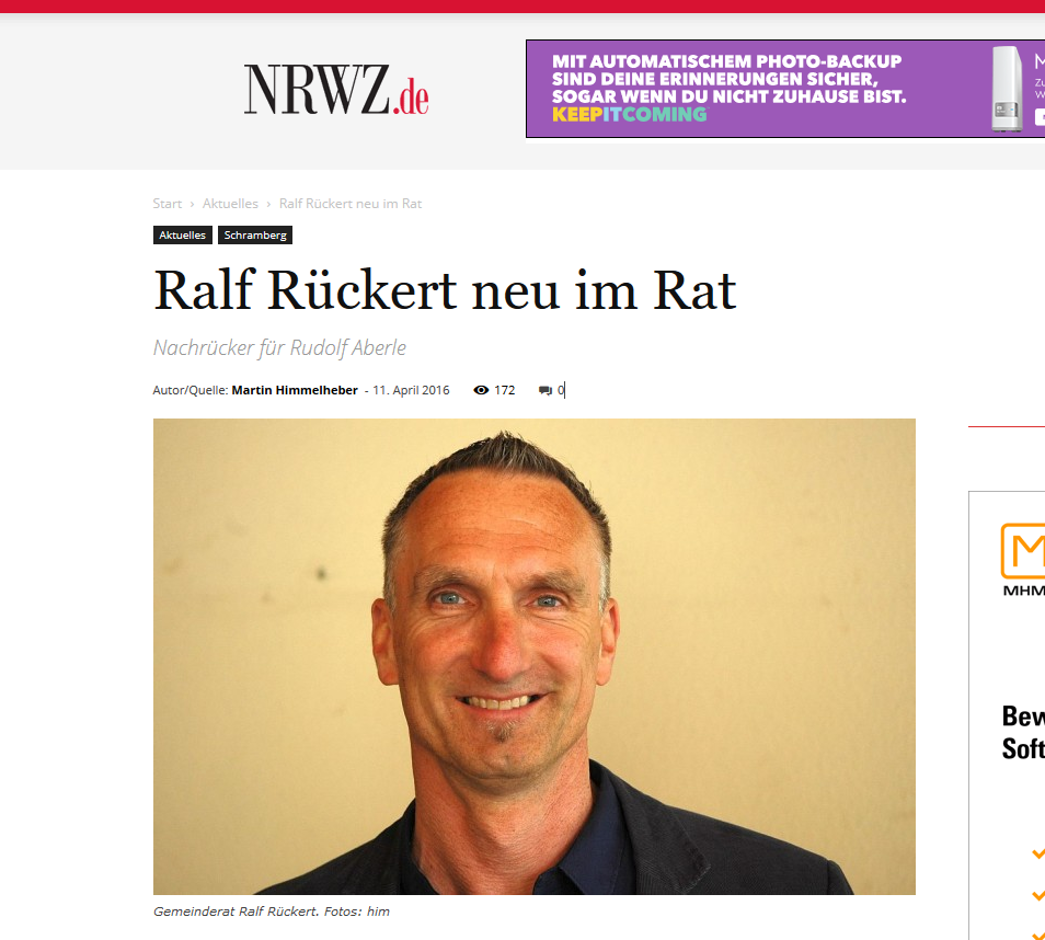 NRWZ Ralf Rueckert im Amt